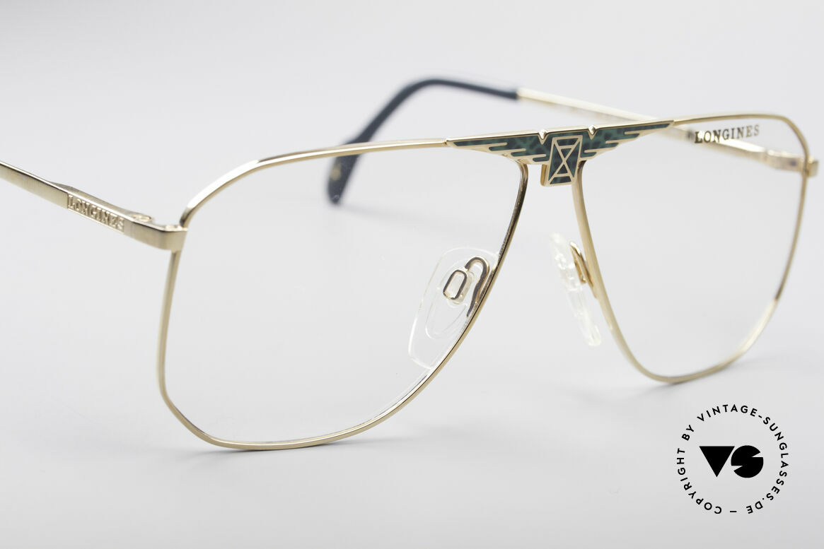 Longines 0155 80er Designer Fassung, ungetragen (wie alle unsere vintage Luxus-Brillen), Passend für Herren