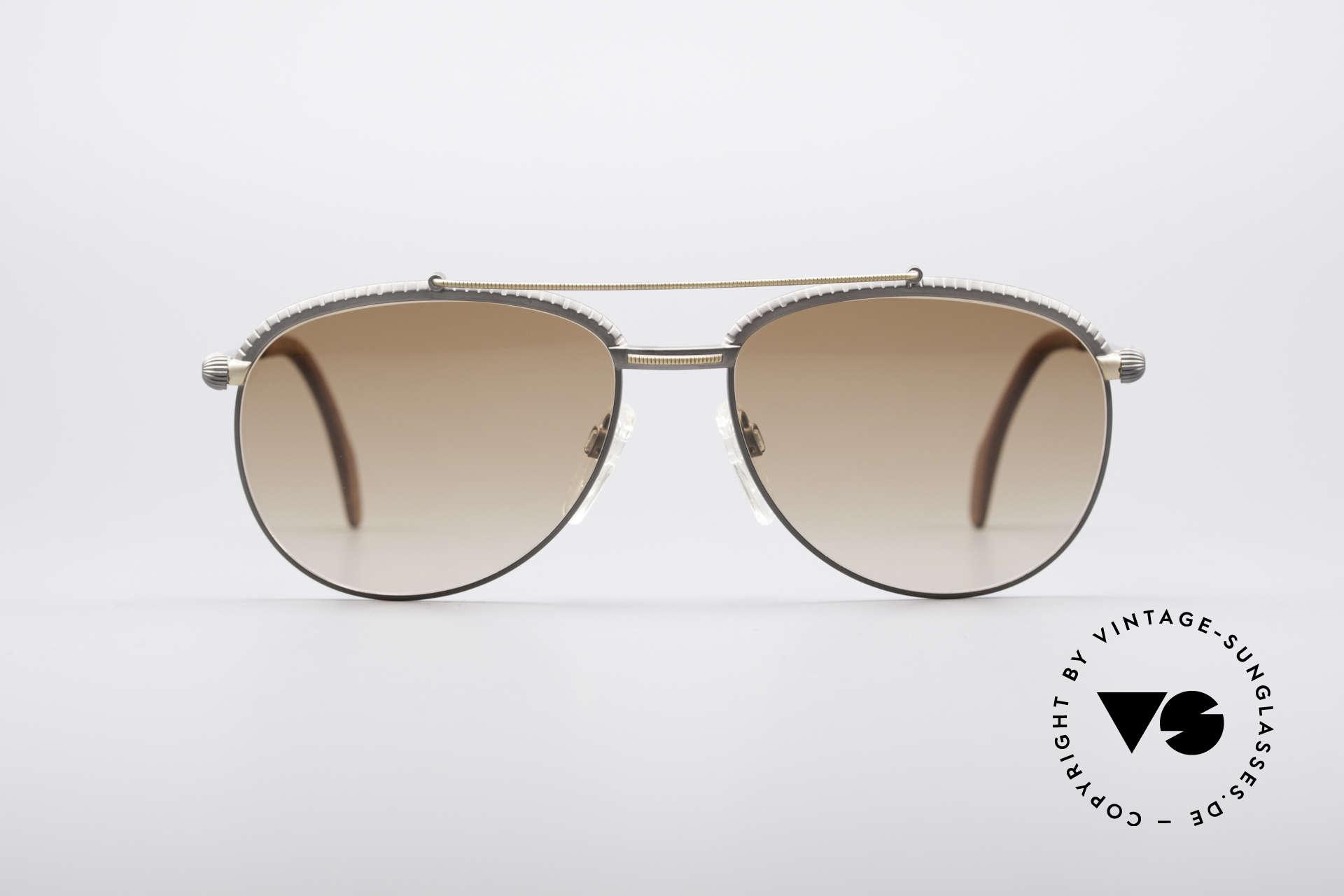 Longines 0161 80er Luxus Sonnenbrille, enorme Qualität (made in Germany); Federscharniere, Passend für Herren