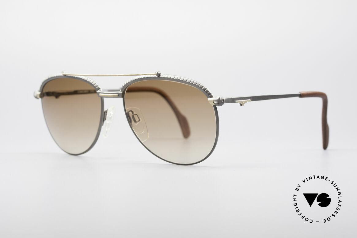 Longines 0161 80er Luxus Sonnenbrille, Bügelenden sind beispielsweise mit Leder überzogen, Passend für Herren