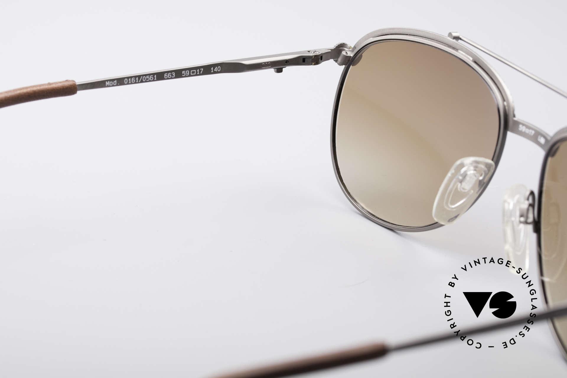 Longines 0161 80er Luxus Sonnenbrille, Sonnengläser können durch optische ersetzt werden, Passend für Herren