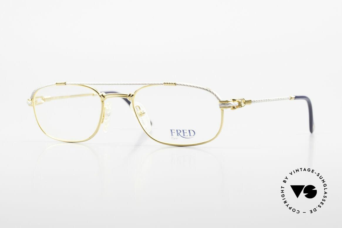Fred Fregate Luxus Seglerbrille S Fassung, marines Design (charakteristisch Fred) in Top-Qualität, Passend für Herren