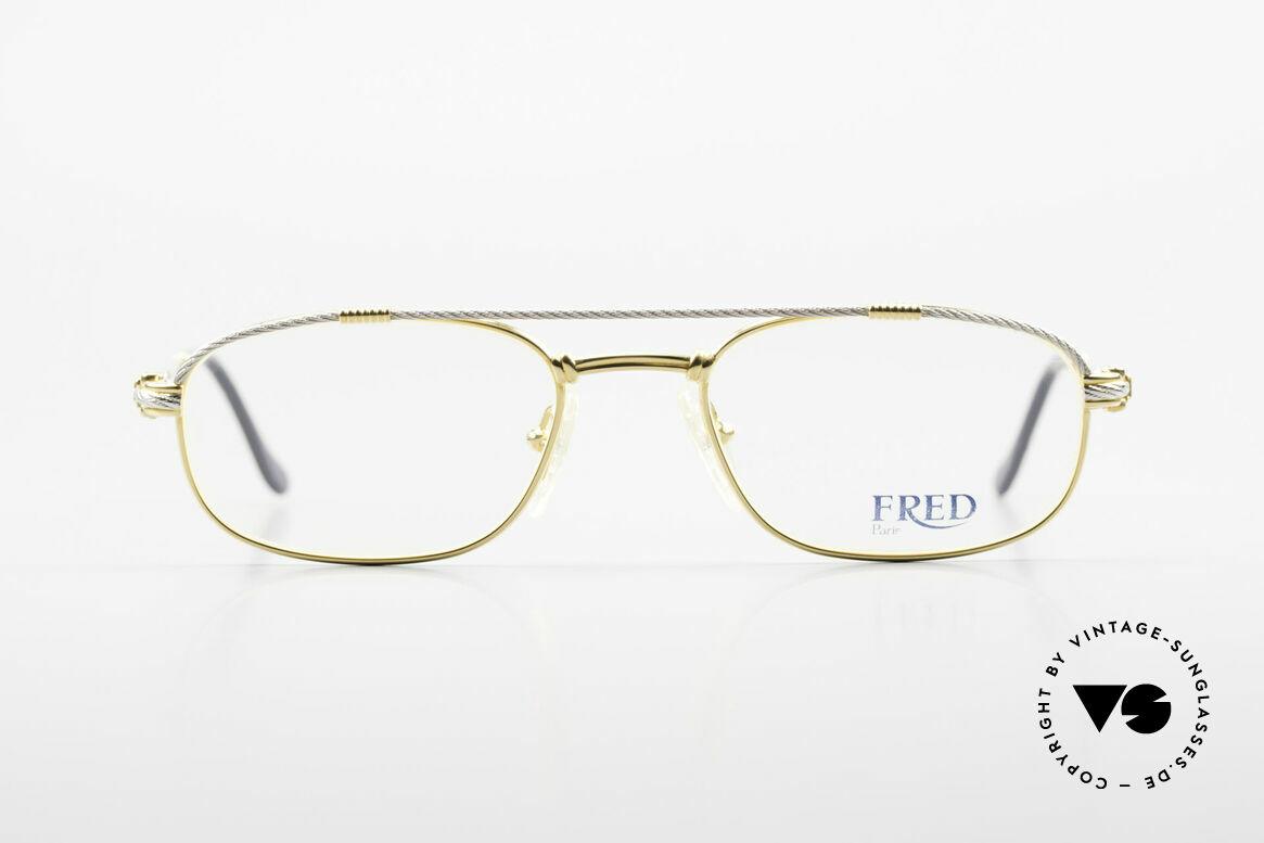 Fred Fregate Luxus Seglerbrille S Fassung, einmalige Designerbrille von Fred, Paris aus den 80ern, Passend für Herren