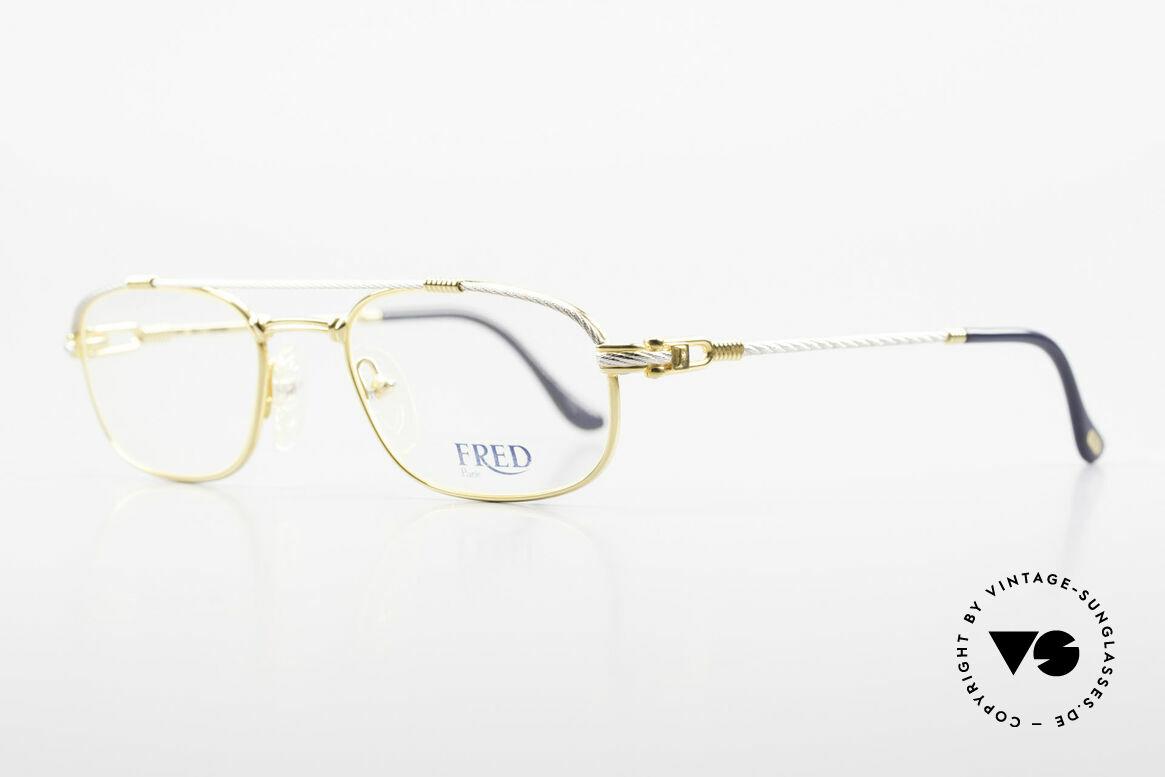 Fred Fregate Luxus Seglerbrille S Fassung, der Name sagt im Grunde alles: 'Fregate' = die Fregatte, Passend für Herren