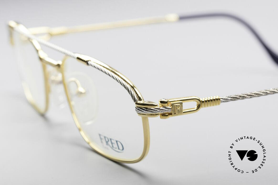 Fred Fregate Luxus Seglerbrille S Fassung, Bügel gedreht wie ein Segeltau; ein Segler MUSS HAVE!, Passend für Herren