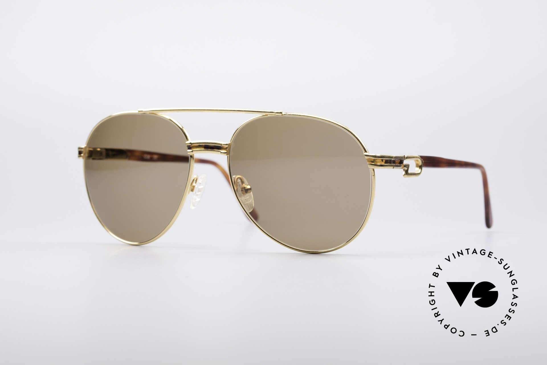 Derapage D2 Vintage No Retro Brille, Derapage Sonnenbrille der klassischen Art aus Italien, Passend für Herren