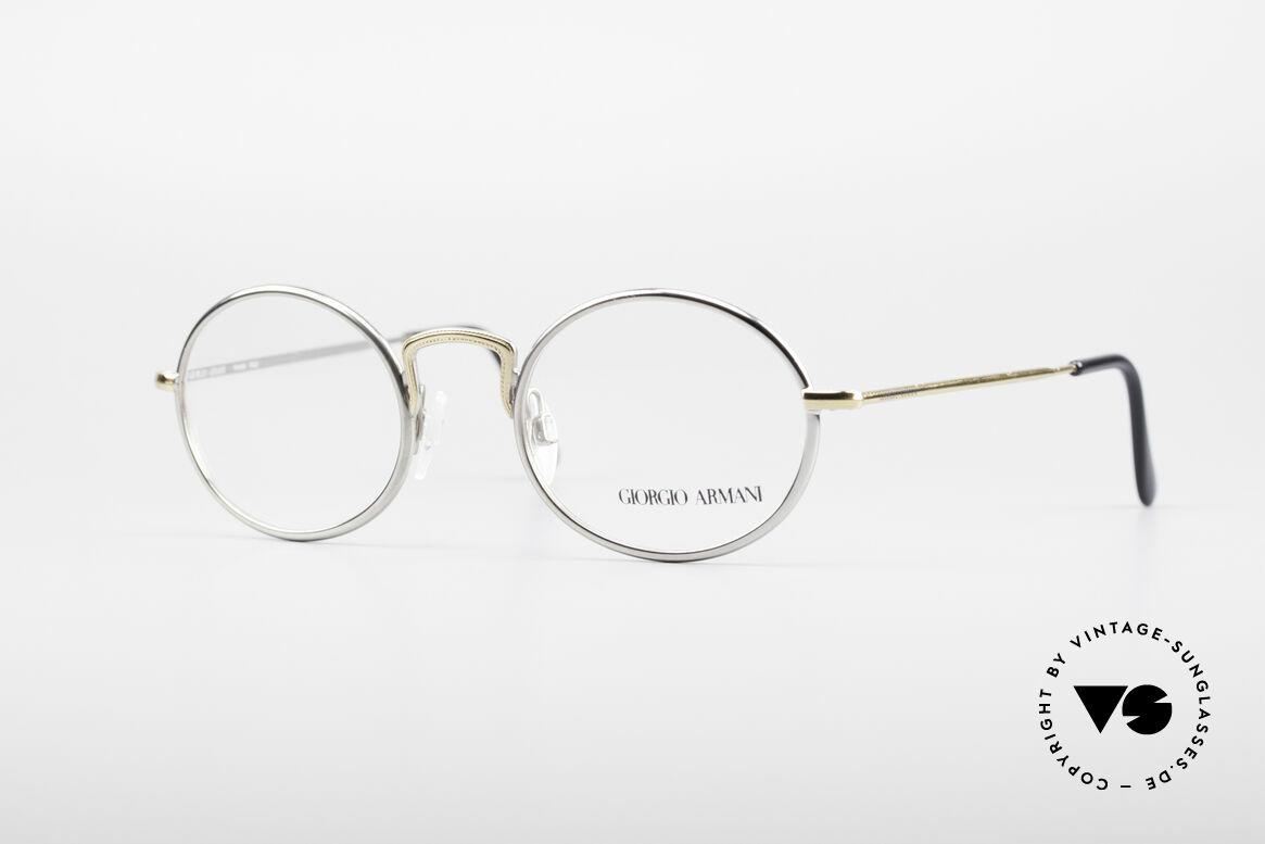Giorgio Armani 156 Ovale Vintage Brille, vintage Brillenfassung vom Modedesigner G. Armani, Passend für Herren und Damen