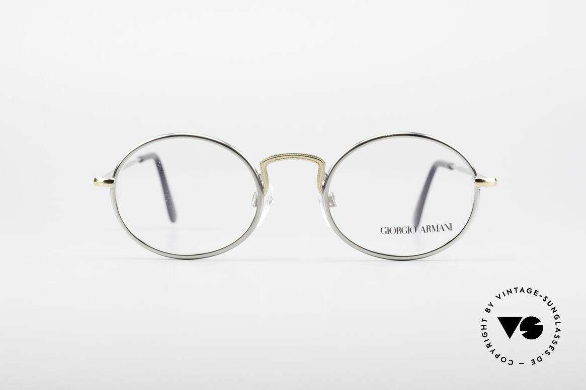 Giorgio Armani 156 Ovale Vintage Brille, schlichter, ovaler Rahmen in absoluter Top Qualität, Passend für Herren und Damen