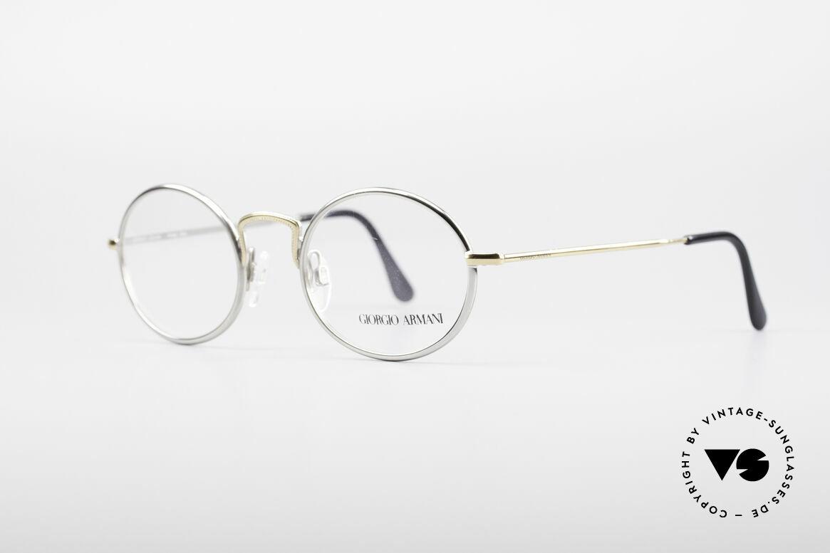 Giorgio Armani 156 Ovale Vintage Brille, dezenter, zeitloser Stil; passt gut zu fast jedem Look, Passend für Herren und Damen