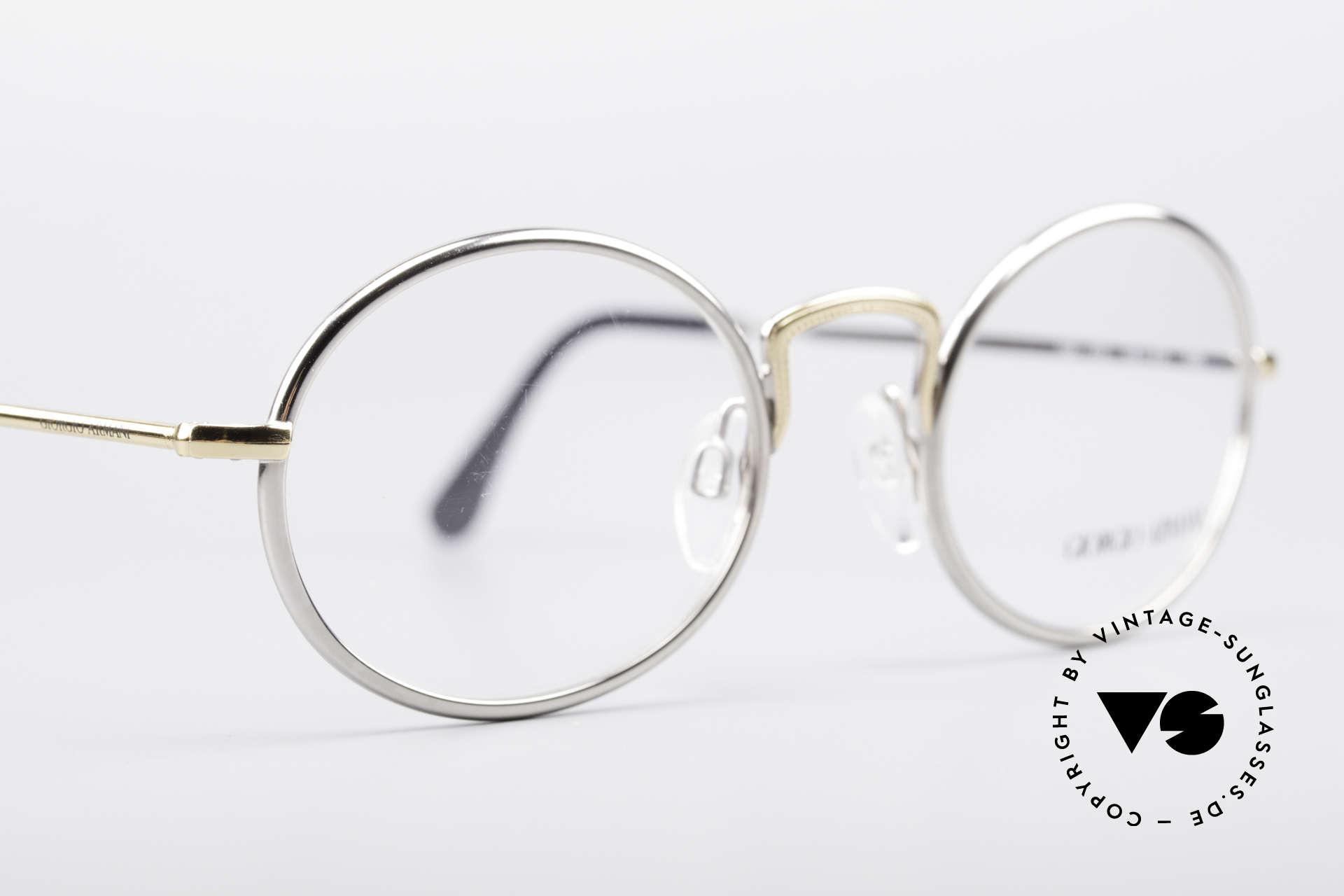Giorgio Armani 156 Ovale Vintage Brille, keine aktuelle Kollektion, sondern alte Originalware!, Passend für Herren und Damen
