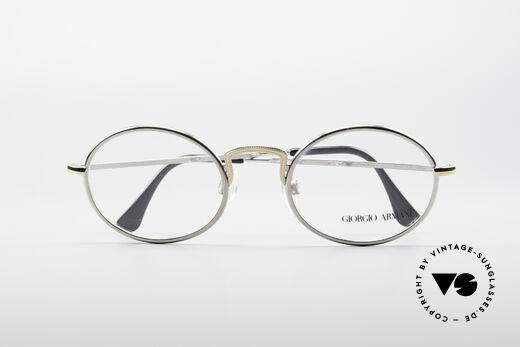 Giorgio Armani 156 Ovale Vintage Brille, Fassung ist beliebig verglasbar (optisch oder Sonne), Passend für Herren und Damen