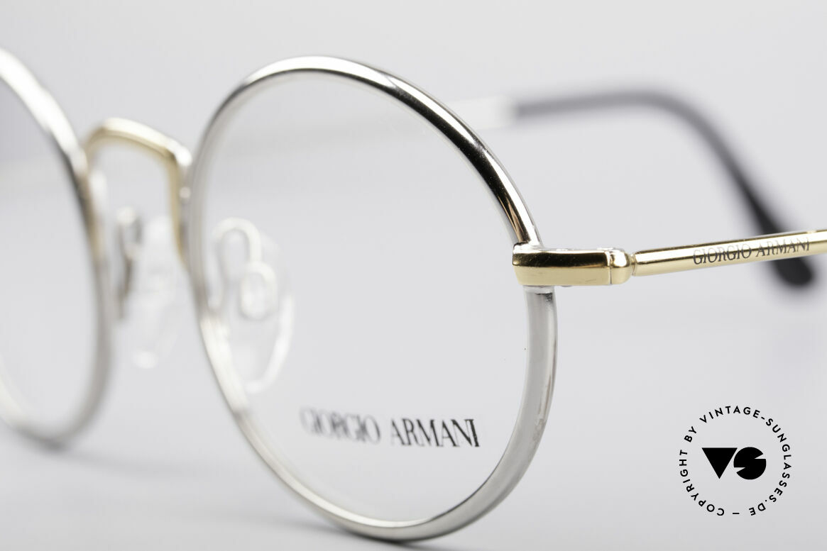 Giorgio Armani 156 Ovale Vintage Brille, ungetragen (wie alle unsere 80er GA Brillenklassiker), Passend für Herren und Damen