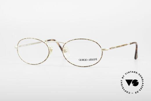 Giorgio Armani 125 Ovale Vintage Fassung Details