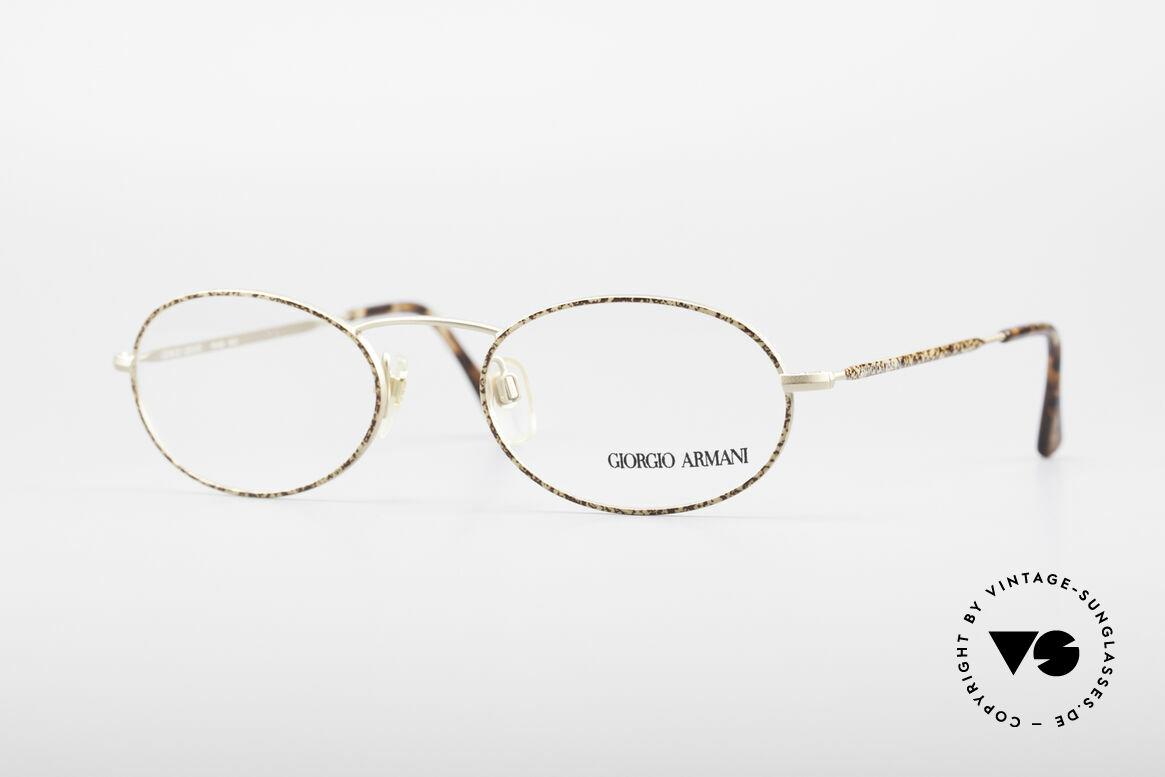 Giorgio Armani 125 Ovale Vintage Fassung, vintage Brillenfassung vom Modedesigner G. Armani, Passend für Herren und Damen