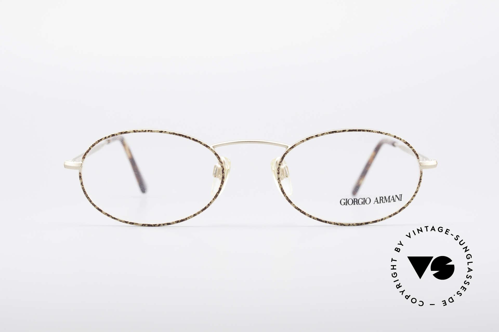 Giorgio Armani 125 Ovale Vintage Fassung, schlichter, ovaler Rahmen in absoluter Top Qualität, Passend für Herren und Damen