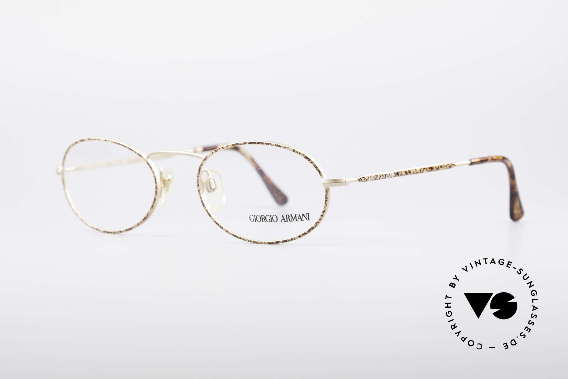 Giorgio Armani 125 Ovale Vintage Fassung, dezenter, zeitloser Stil; passt gut zu fast jedem Look, Passend für Herren und Damen
