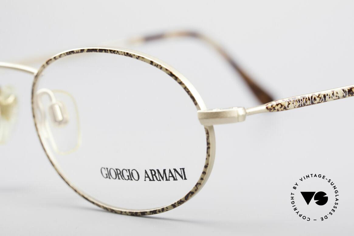 Giorgio Armani 125 Ovale Vintage Fassung, ungetragen (wie alle unsere 80er GA Brillenklassiker), Passend für Herren und Damen