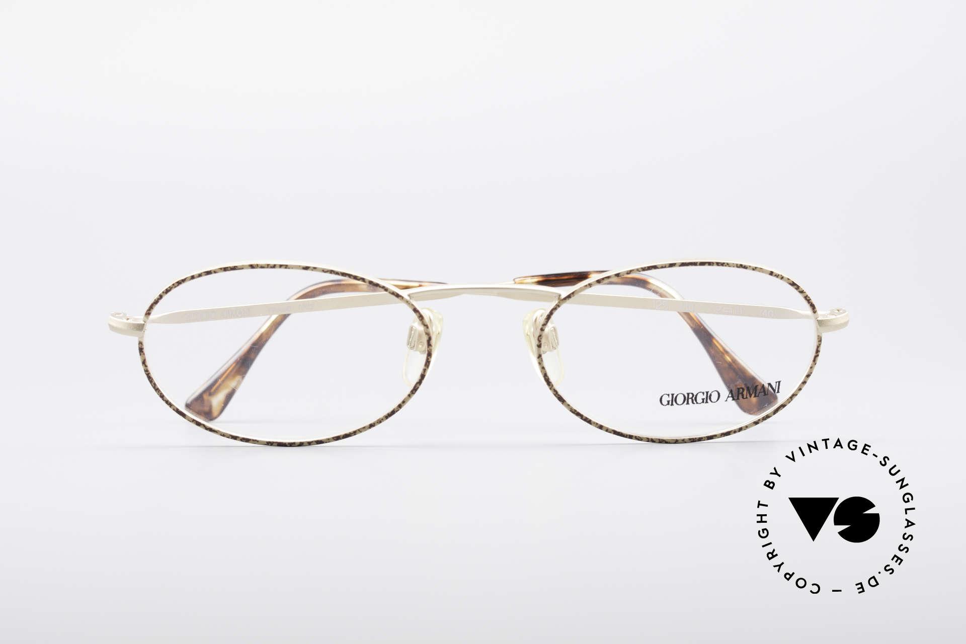 Giorgio Armani 125 Ovale Vintage Fassung, Fassung ist beliebig verglasbar (optisch oder Sonne), Passend für Herren und Damen