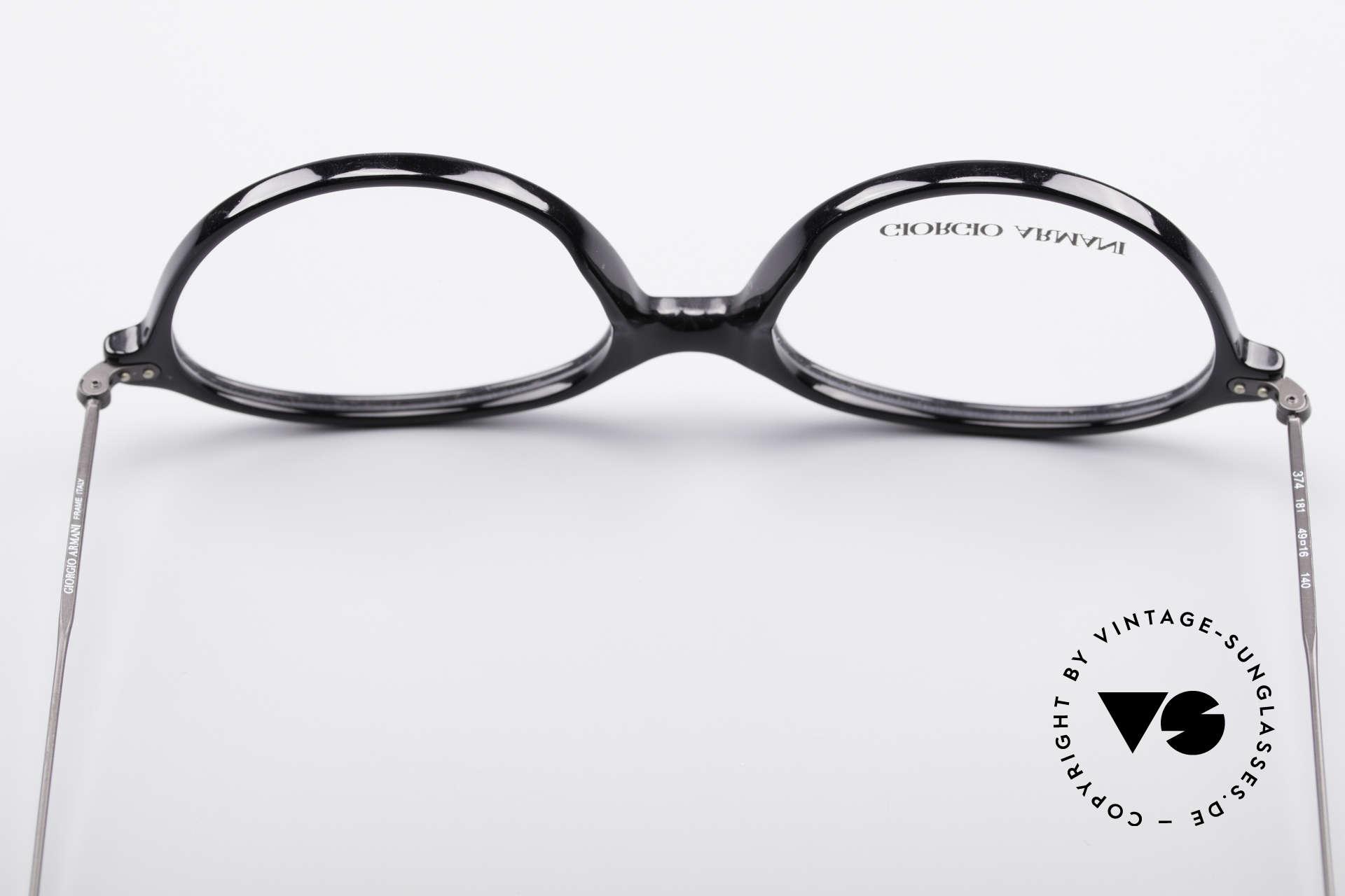 Giorgio Armani 374 90er Unisex Vintage Brille, die Fassung ist beliebig verglasbar (optisch / Sonne), Passend für Herren und Damen