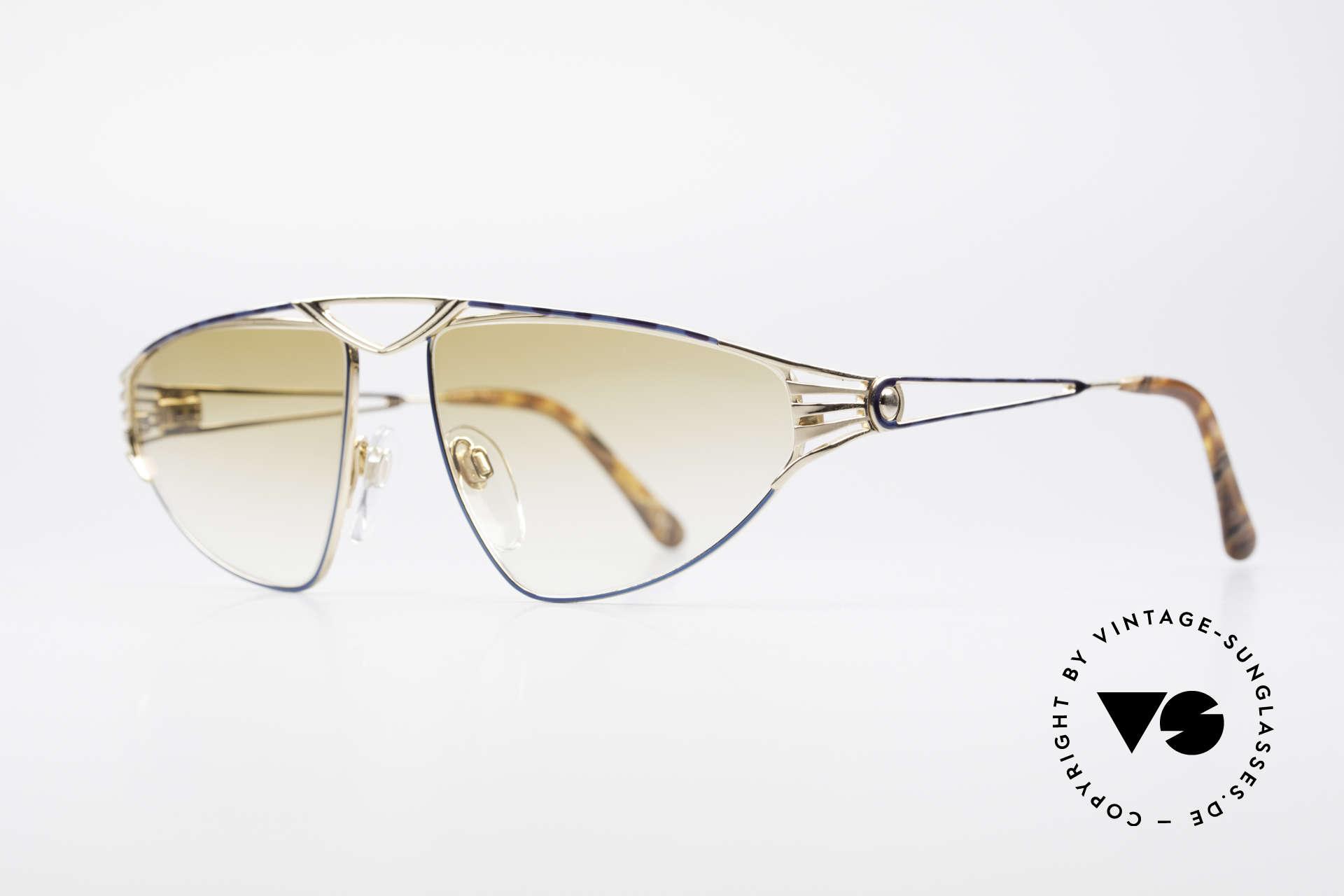 St. Moritz 4410 90er Luxus Sonnenbrille, in Kleinstserie produziert (Modelle mit Seriennummer), Passend für Damen