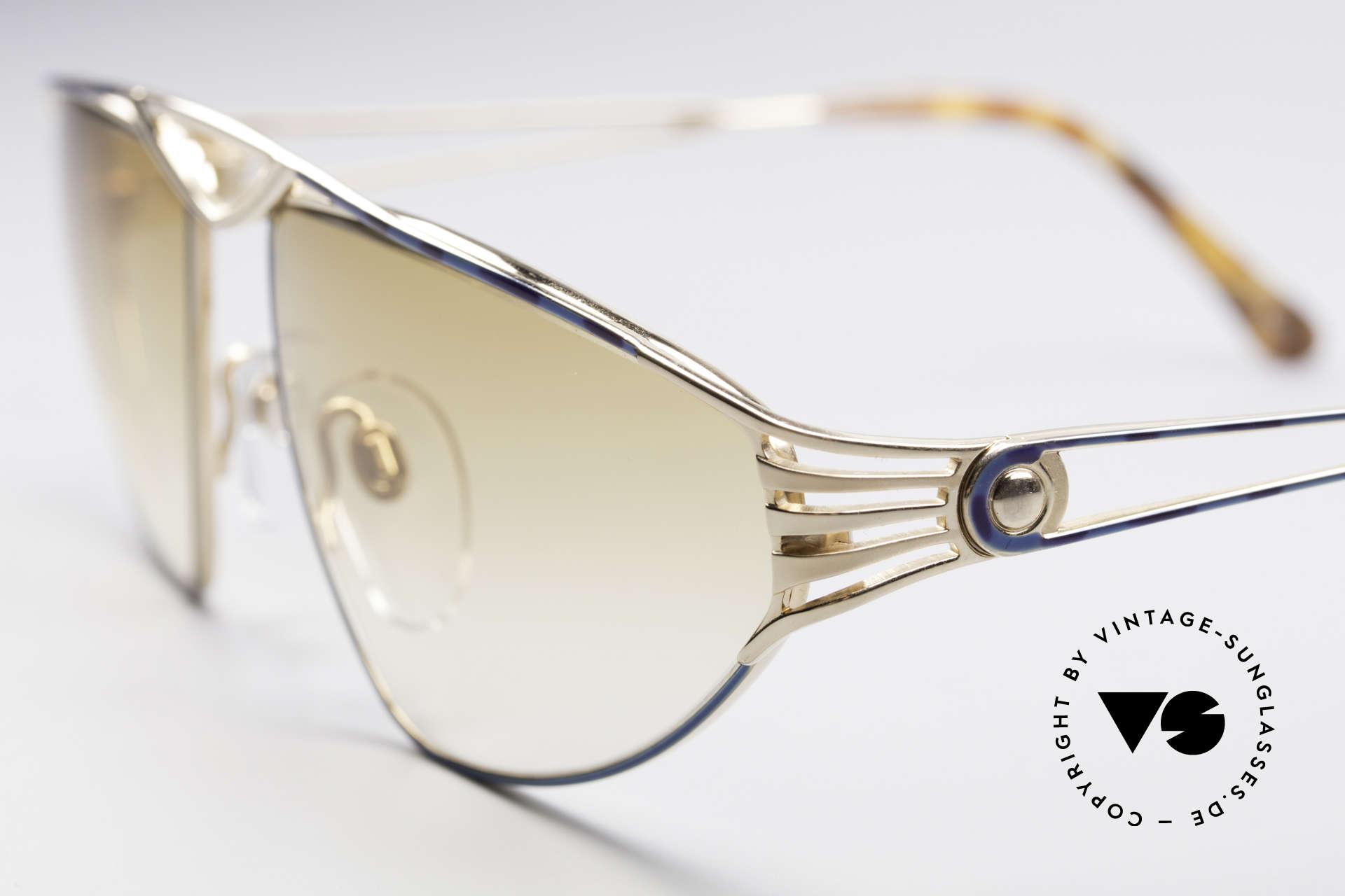 St. Moritz 4410 90er Luxus Sonnenbrille, enorm hochwertig (vergoldet & sehr aufwändig lackiert), Passend für Damen