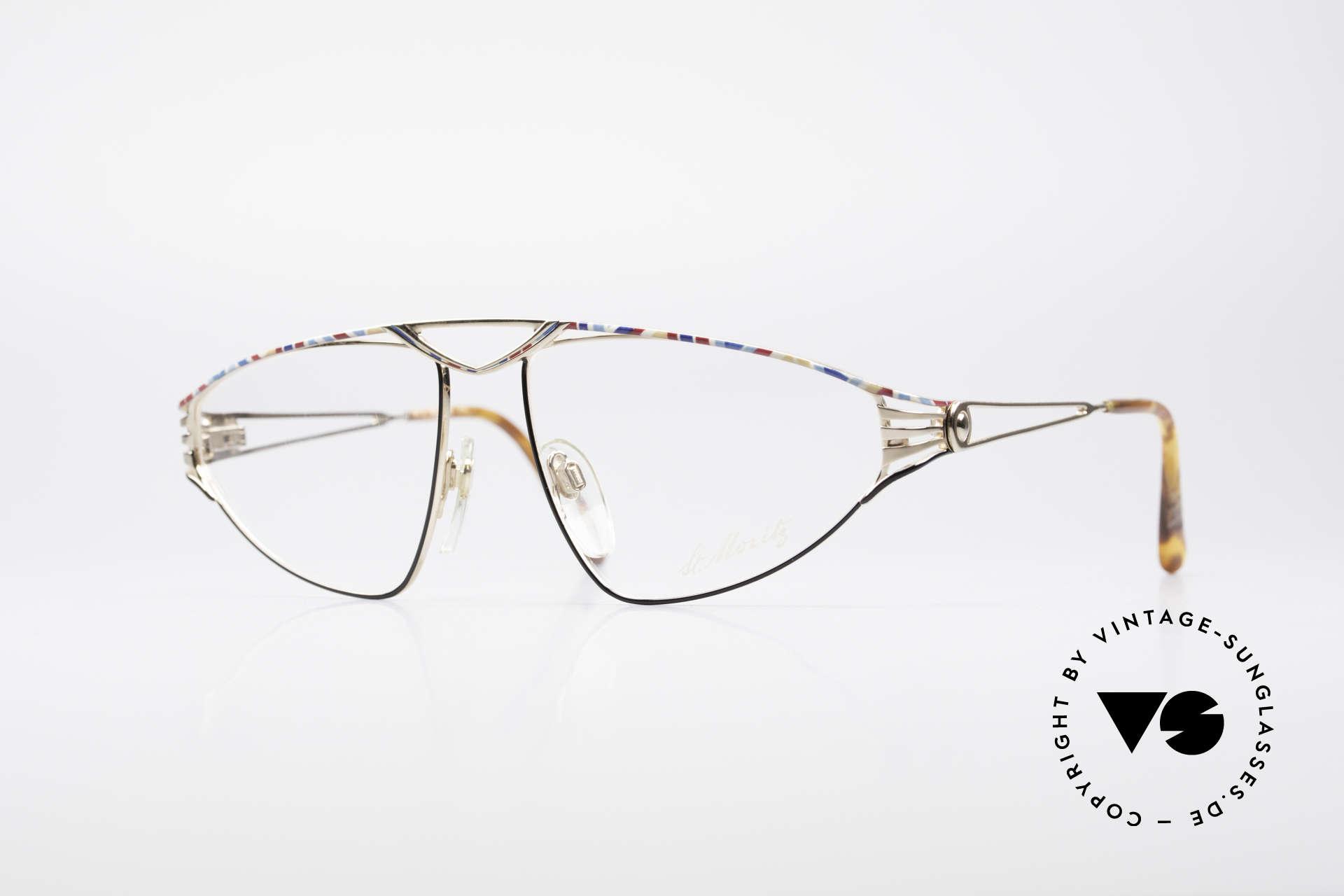 St. Moritz 4410 Luxus Designer Brille, sensationelle vintage St. Moritz Lusux-Brillenfassung, Passend für Damen