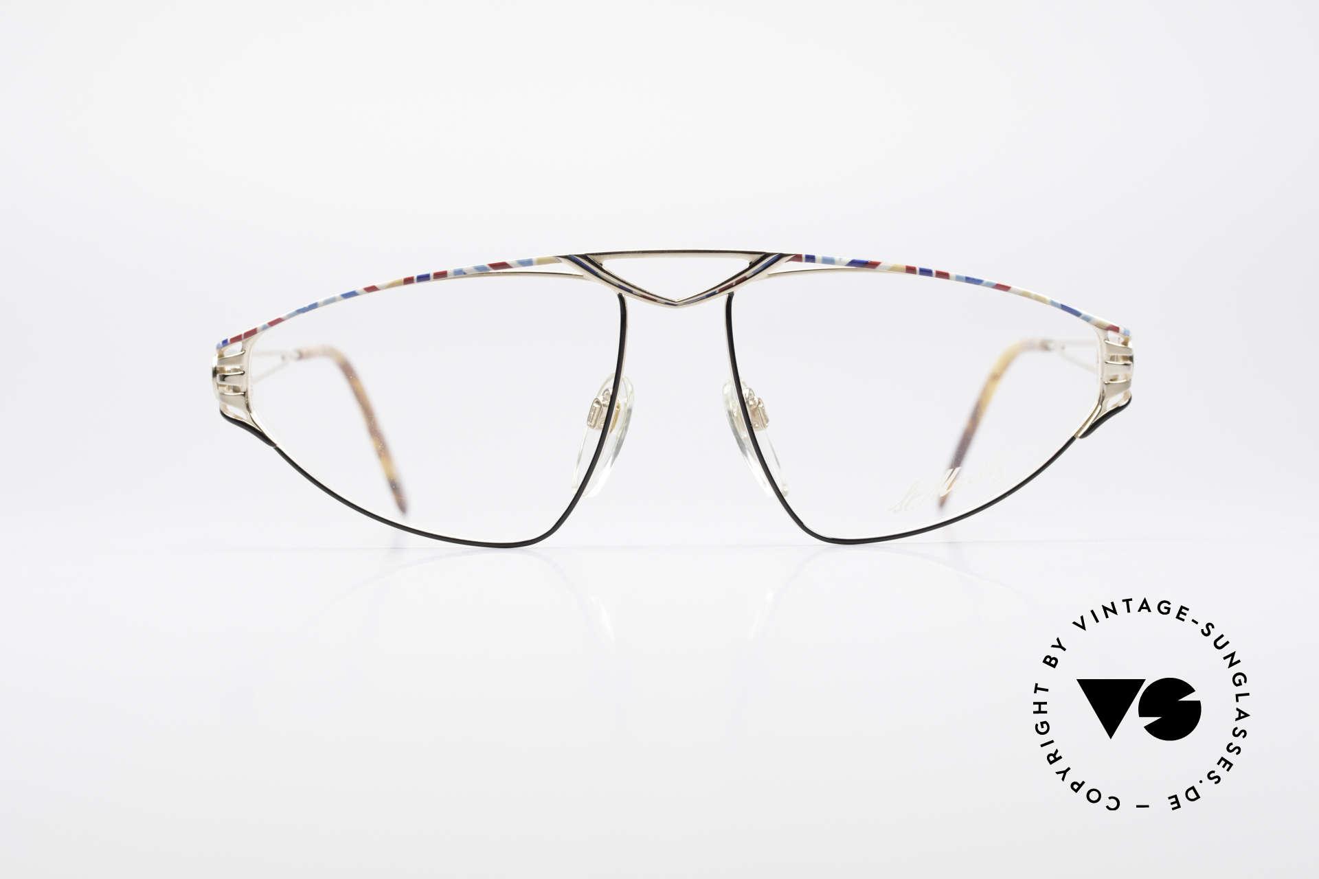 St. Moritz 4410 Luxus Designer Brille, kostbare Designer-Fassung in außergewöhnlicher Form, Passend für Damen