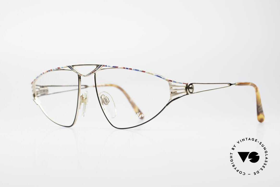 St. Moritz 4410 Luxus Designer Brille, in Kleinstserie produziert (Modelle mit Seriennummer), Passend für Damen