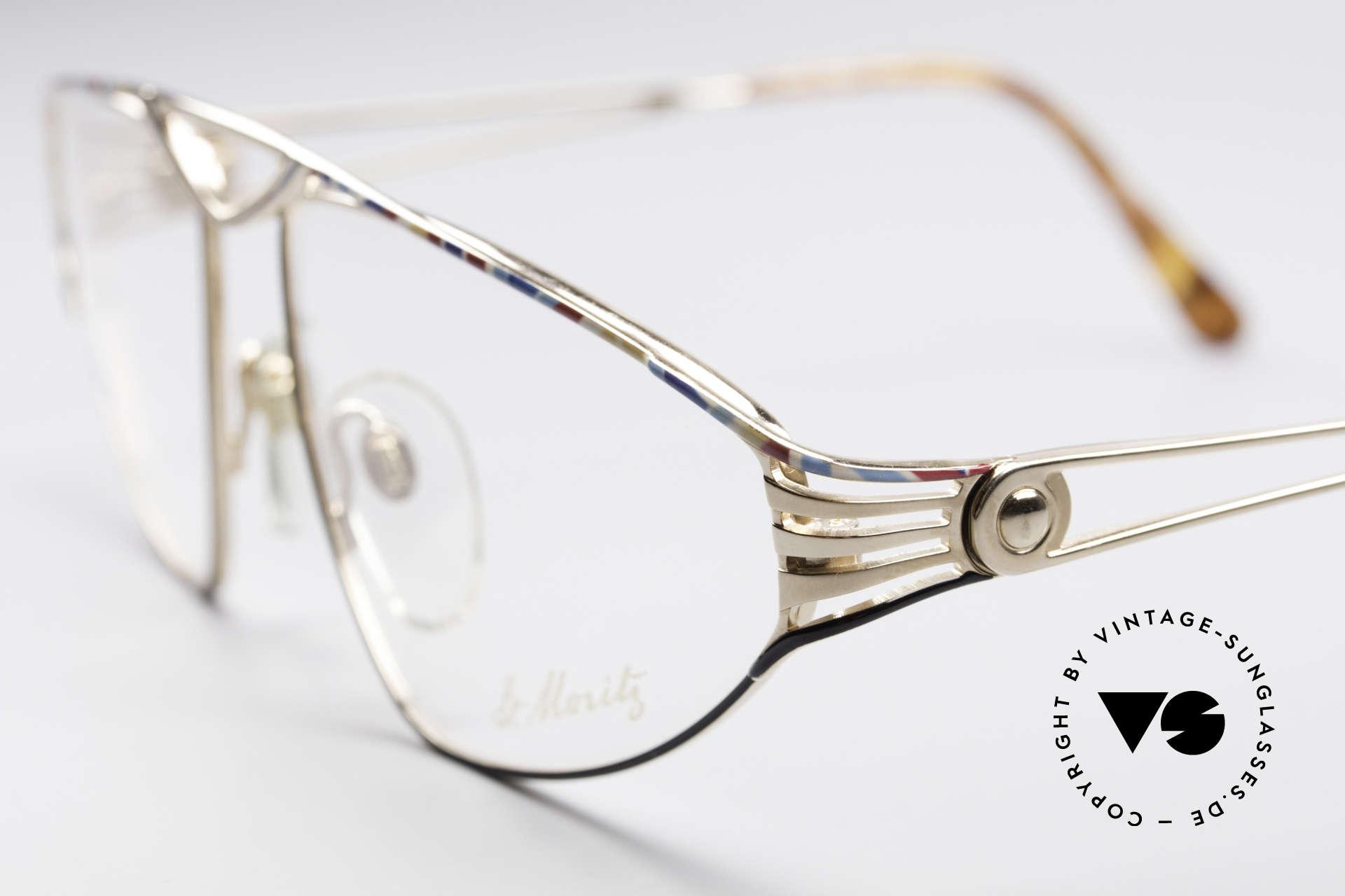 St. Moritz 4410 Luxus Designer Brille, enorm hochwertig (vergoldet & sehr aufwändig lackiert), Passend für Damen