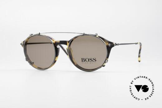 BOSS 5192 Sonnenclip Panto Brille 90er Details
