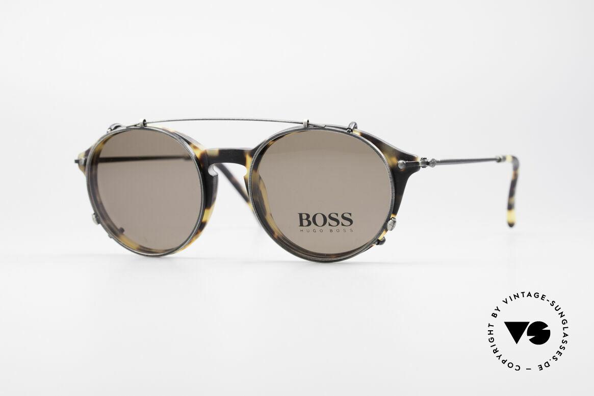 BOSS 5192 Sonnenclip Panto Brille 90er, klassische vintage Designer-Sonnenbrille von BOSS, Passend für Herren