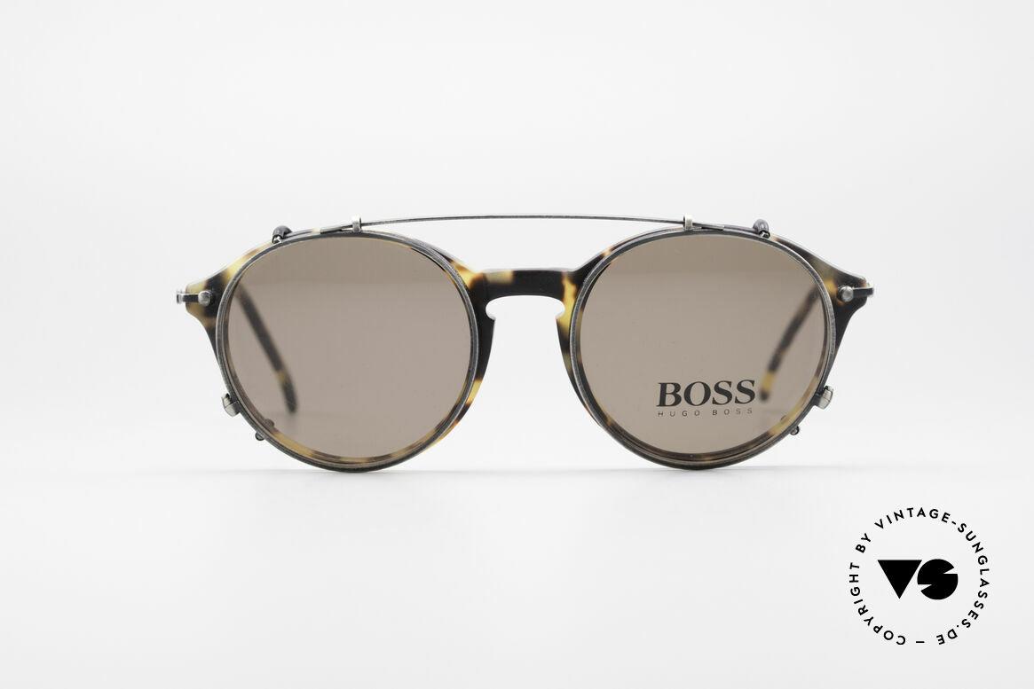 BOSS 5192 Sonnenclip Panto Brille 90er, großartiges ORIGINAL in absoluter Spitzen-Qualität, Passend für Herren