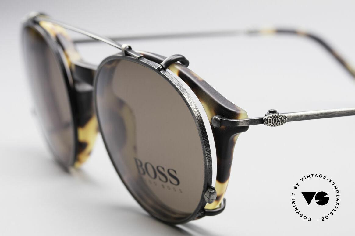 BOSS 5192 Sonnenclip Panto Brille 90er, aus damaliger Kooperation zwischen BOSS & Carrera, Passend für Herren