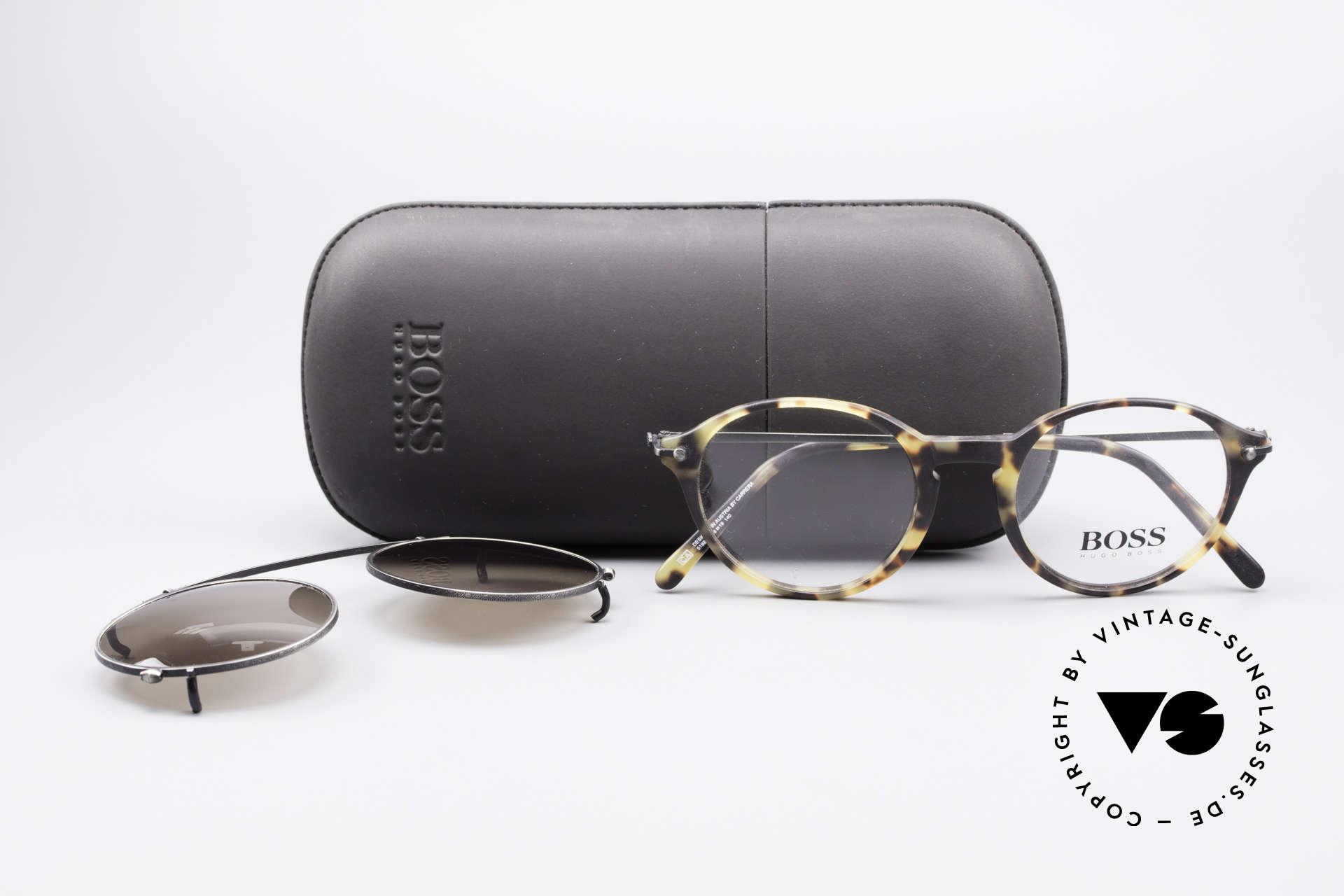 BOSS 5192 Sonnenclip Panto Brille 90er, KEINE retro Sonnenbrille; ein echter DesignKlassiker, Passend für Herren