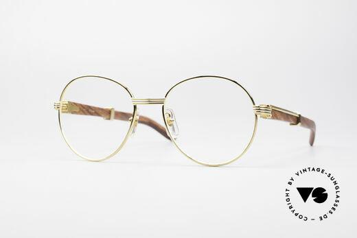 Cartier Bagatelle Bubinga Edelholzbrille Luxus Details
