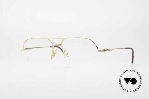 Cartier Orsay Halbrand Luxus Herrenbrille Details