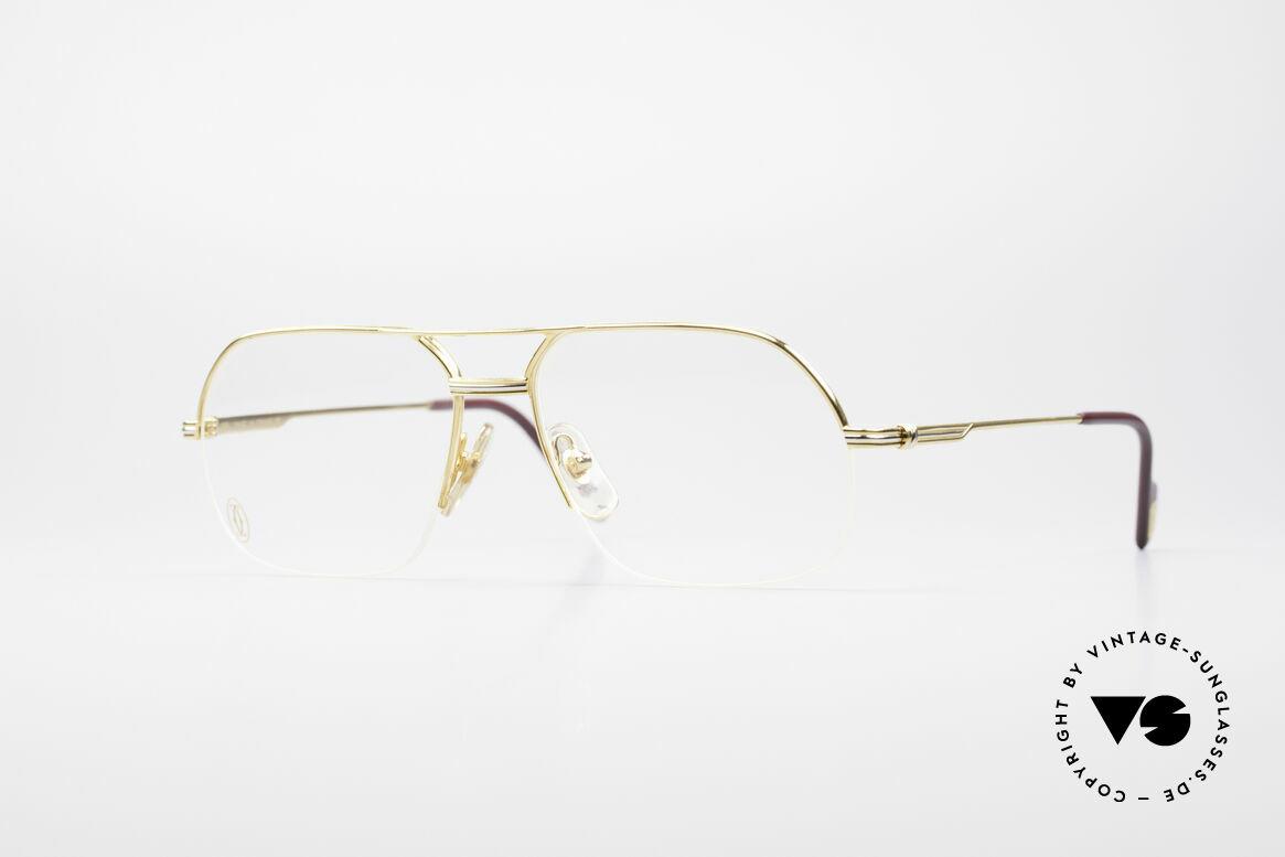 Cartier Orsay Halbrand Luxus Herrenbrille, markante Cartier Brillenfassung in Größe 56°15, Passend für Herren
