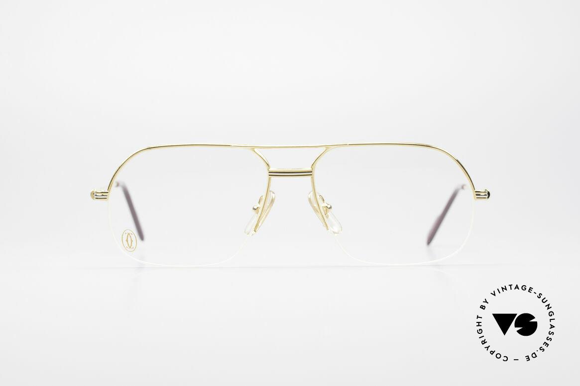 Cartier Orsay Halbrand Luxus Herrenbrille, Modell aus der Cartier 'Semi-Rimless' Collection, Passend für Herren
