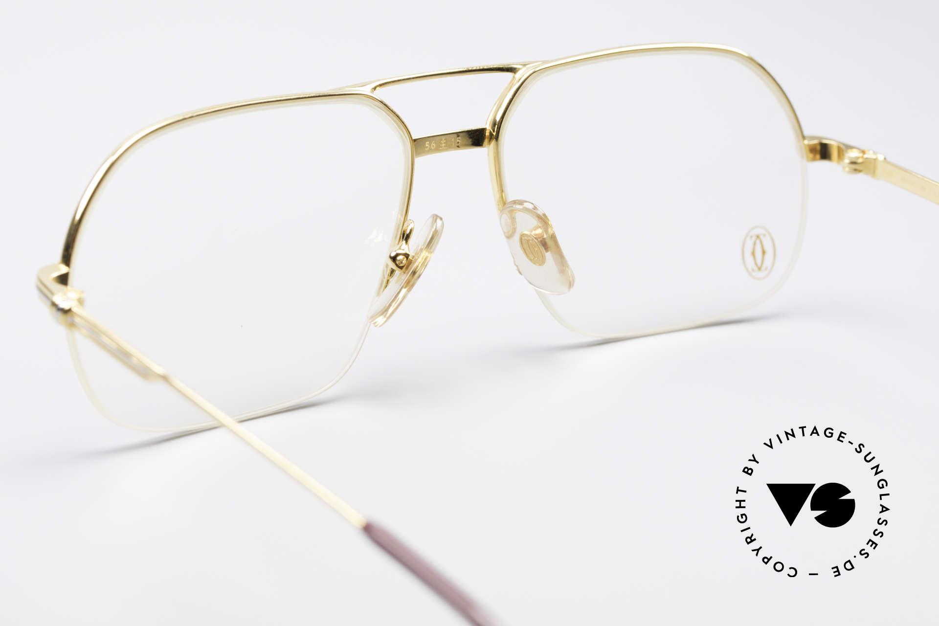 Cartier Orsay Halbrand Luxus Herrenbrille, flexibler Halbrahmen (Top-Qualität), Luxusbrille!, Passend für Herren