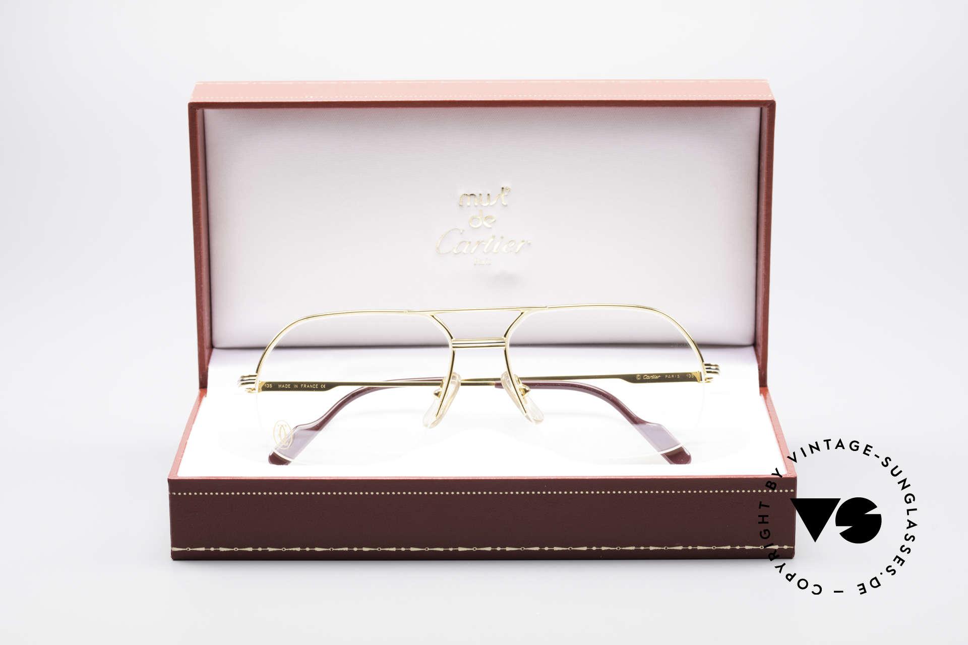 Cartier Orsay Halbrand Luxus Herrenbrille, KEINE Retrobrillen-Mode; Original von ca. 1993!, Passend für Herren