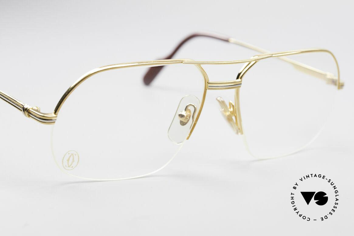 Cartier Orsay Halbrand Luxus Herrenbrille, ungetragenes Unikat (inkl. original Cartier Box), Passend für Herren