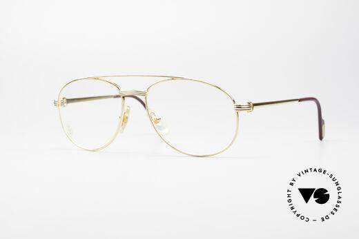 Cartier Driver 90er Luxus Pilotenbrille Details