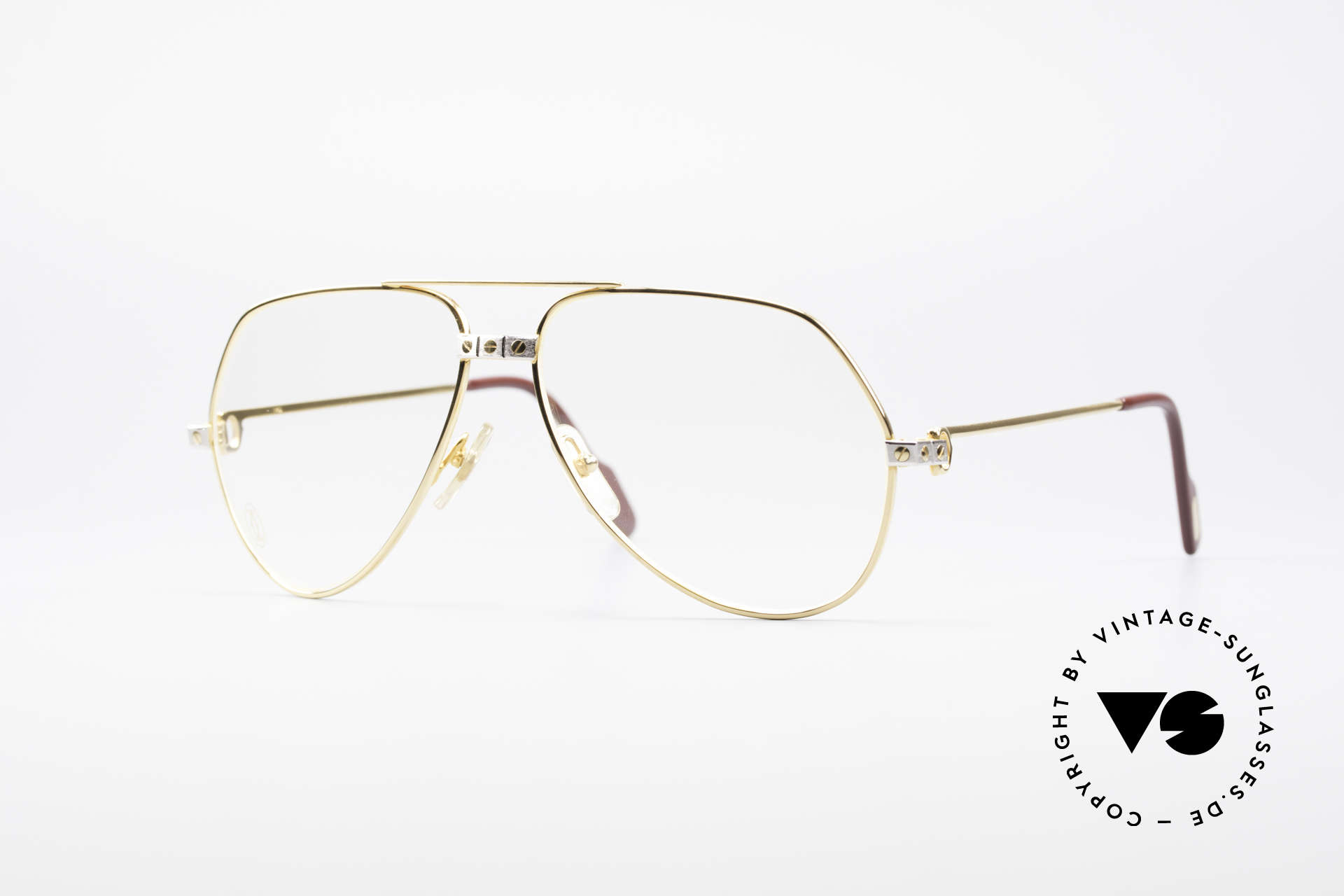Cartier Vendome Santos - M James Bond Brille 80er Original, Vendome = das berühmteste Brillendesign von CARTIER, Passend für Herren