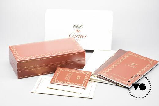 Cartier Vendome Santos - M James Bond Brille 80er Original, ungetragen mit original Verpackung (ein Sammlerstück), Passend für Herren