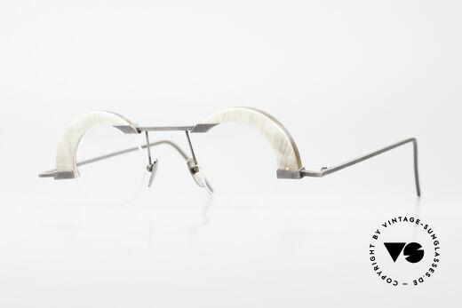 B. Angeletti Schwärmer Echthorn Vintage Brille 1994 Details