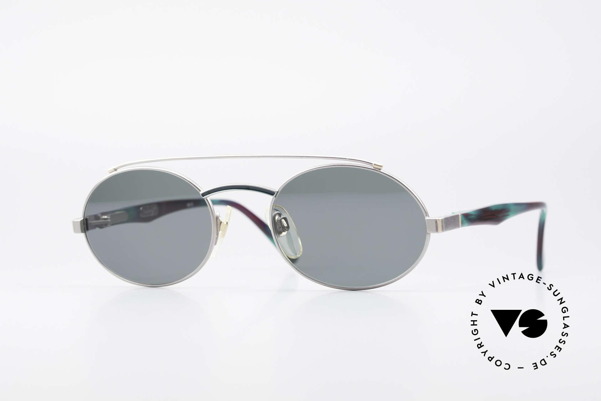 Davidoff 305 Ovale Vintage Herrenbrille, edle vintage 1990er Herren-Sonnenbrille von DAVIDOFF, Passend für Herren