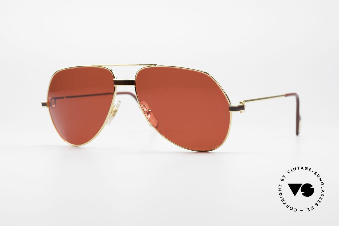 Cartier Vendome Laque - M Luxus Vintage Sonnenbrille, Vendome = das berühmteste Brillendesign von CARTIER, Passend für Herren und Damen