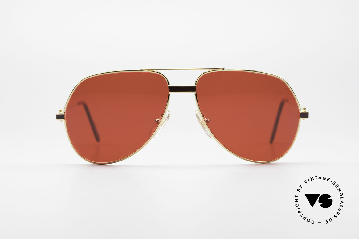 Cartier Vendome Laque - M Luxus Vintage Sonnenbrille, wurde 1983 veröffentlicht & dann bis 1997 produziert, Passend für Herren und Damen