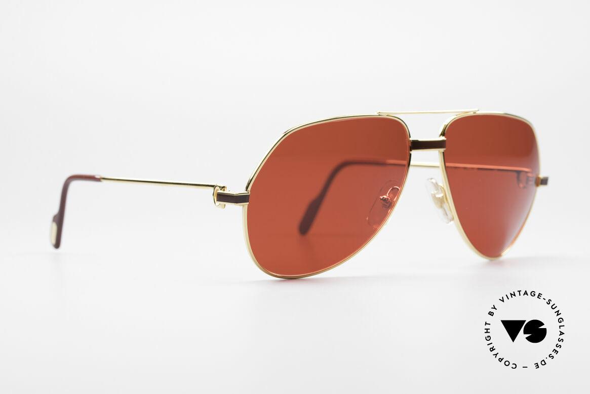 Cartier Vendome Laque - M Luxus Vintage Sonnenbrille, dieses Modell mit Laque-Dekor: MEDIUM Gr. 59-16, 140, Passend für Herren und Damen
