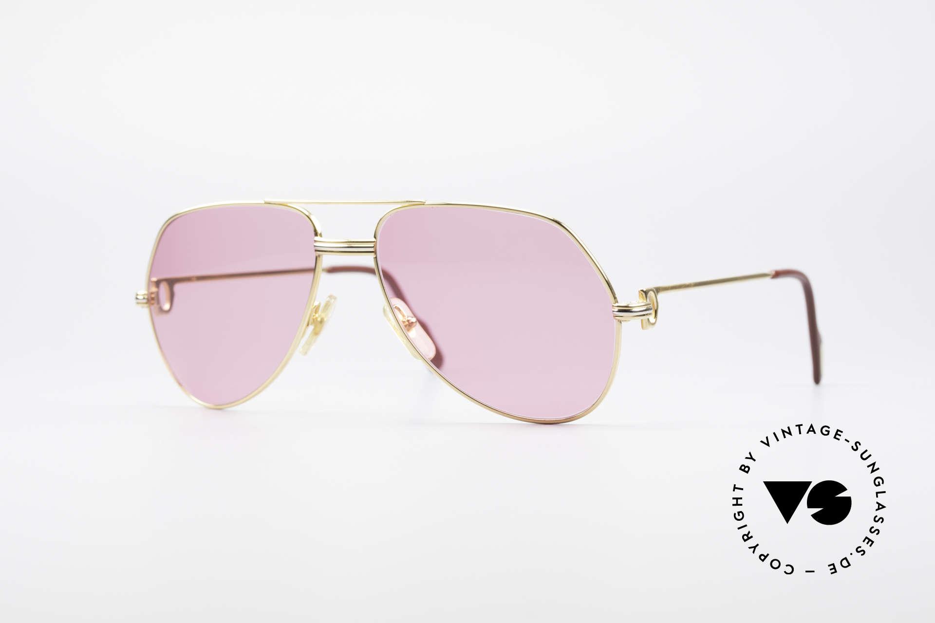 Cartier Vendome LC - M Michael Douglas Sonnenbrille, Vendome = das berühmteste Brillendesign von CARTIER, Passend für Herren und Damen