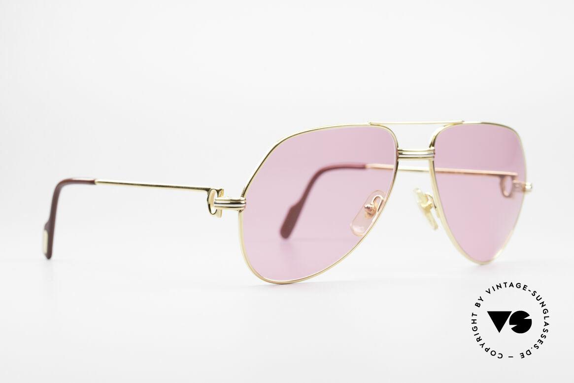 Cartier Vendome LC - M Michael Douglas Sonnenbrille, dieses Modell mit LC-Dekor in MEDIUM Gr. 59-14, 140, Passend für Herren und Damen